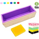 Flexible Rectangular Soap Silicone Mold Wood Box for Homemade 42oz Soap Produce