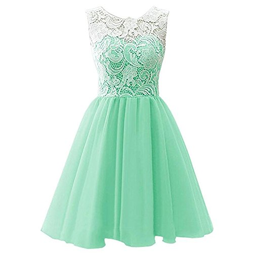 Candy Color Blush Flower Girl Dress for Weddings Sleeveless Summer Girls Dress Size 7 16 Knee Party Girl Dress Chiffon Clothes Size 7 8 (Mint Green, (Dresses For Kids 10-12)