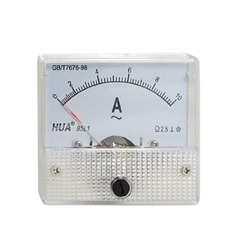 Ac Analog (TOOGOO(R) Class 2.5 Accuracy AC 0-10A Analog Panel AMP Meter)