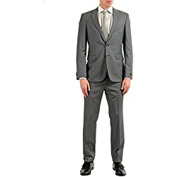 "Hugo Boss Inwood2/Winfield2"" Men's 100% Wool Gray Two Button Suit SZ US 36S IT 46S"