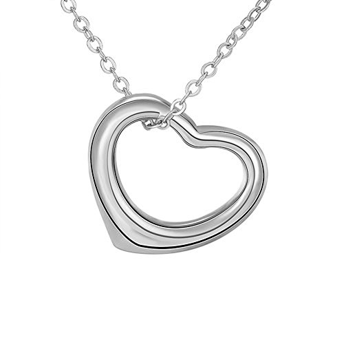 HACOOL 925 Sterling Silver Simple Floating Charm Necklace Pendant 16