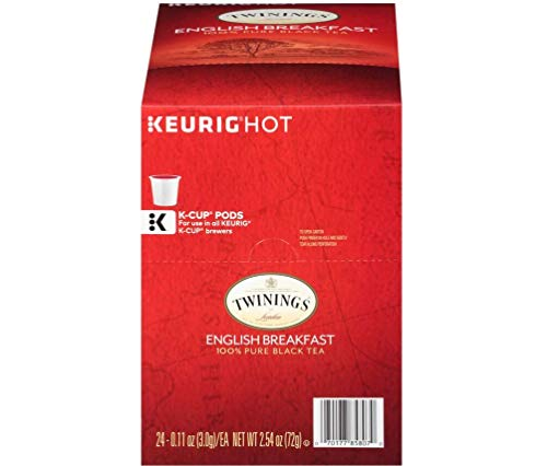 - Twinings of London English Breakfast Black Tea K-Cups for Keurig, 24 Count