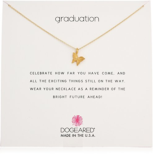 [Dogeared Reminder Graduation, Graceful Butterfly Gold Chain Necklace, 16