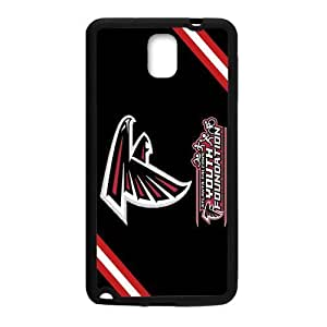 Red and White Chevron Black background Coolest Atlanta Falcons Samsung Galaxy note 3 Case Cover (Laser Technology)