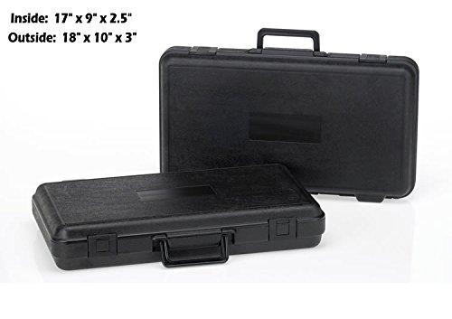 HUNSAKER USA: Hard Case Universal Storage Box (Inside Dims: 17'' x 9'' x 2.5'' - Black)