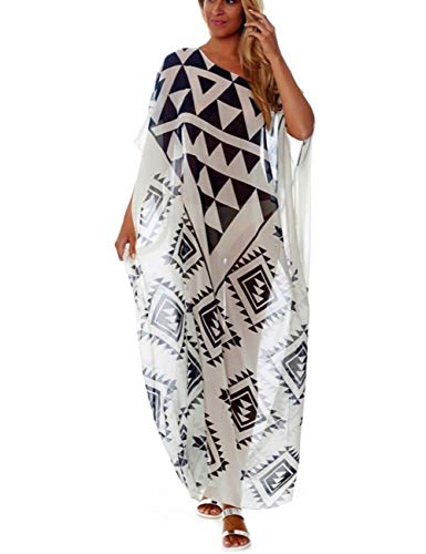 Up Long Cover - Bsubseach Women Loose Chiffon Swimsuit Cover Up for Swimwear Kaftan Beach Long Dress
