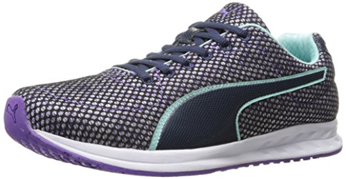 PUMA Women's Burst TECH WN's Cross-Trainer Shoe, Royal Purple-Aruba Blue-Peacoat, 9 M US by PUMA