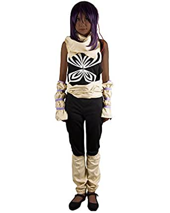 Miccostumes Women's Bleach Yoruichi Shihouin Cosplay Outfit Small Black