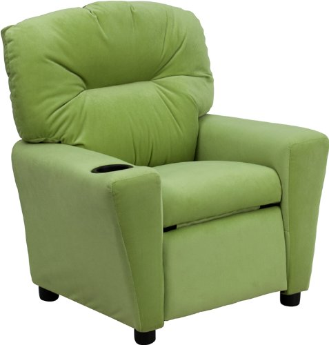 Flash Furniture Contemporary Microfiber Kids Recliner Avocado by Flash Furniture