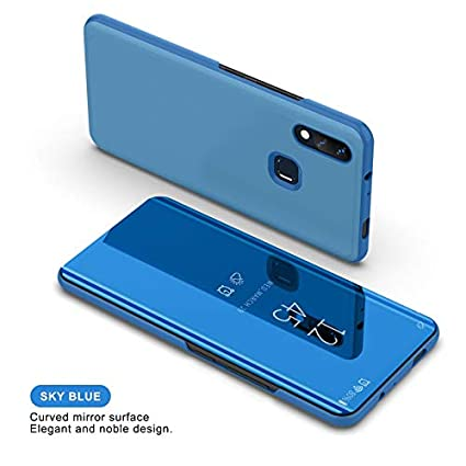 ERIT Clear View Flip Cover,Redmi Note 7 pro Case, Accessories Clear View  Standing Cover for Redmi Note 7, Luxury Mirror Clear View Flip Stand  Leather