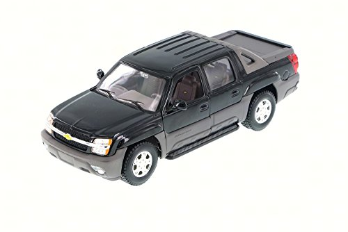 2002 Chevy Avalanche Pick Up Truck, Black - Welly 22094 - 1/24 Scale Diecast Model Toy Car