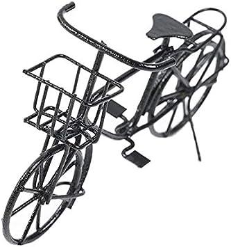 Amazon.es: TOOGOO 1:12 Casa de Mu?ecas Negro Retro Bicicleta Casa ...
