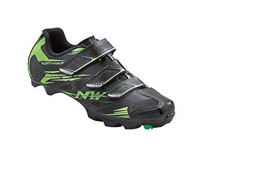 Northwave Scorpius 2 Chaussures de vélo de montagne, noir-vert-fluoro