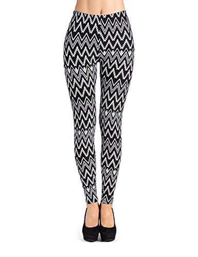 d7e2fc321b3b5 PL-SLE-1545 SEJORA Printed Leggings Full Length Patterned with Designs - ( One