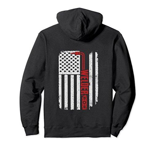Unisex Welder Flag Hoodie Large (Welder Adult Sweatshirt)