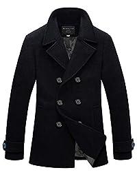 Match Mens Wool Blend Classic Pea Coat Winter Coats