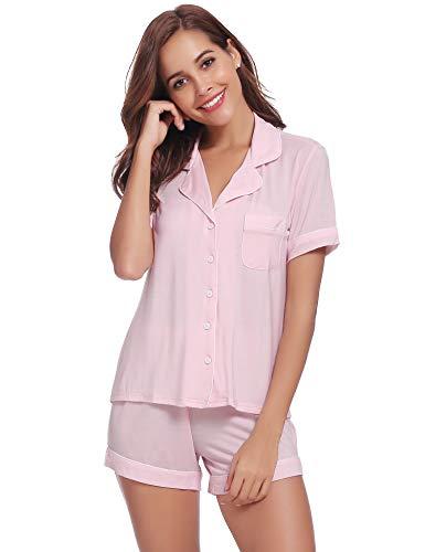 (Seaside Pajamas for Women Shorts AMP005 Pink l)