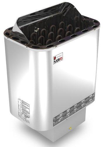 Saunaofen Nordex 9 kW Außenmantel Edelstahl, ohne Saunasteine, ohne Steuerung