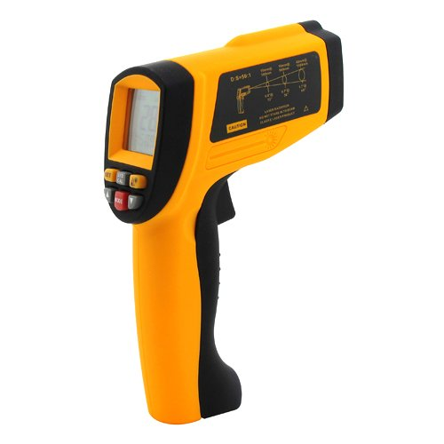 GM1350 LCD digital 50:1 IR Infrared Non-Contact Thermometer -18~1350C (0~2462F) 0.1~1.00 adjustable Professional Industrial Pyrometer 0.1~1EM