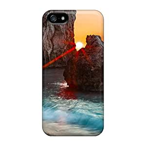 Excellent Design Sunset Rocks Nature Case Cover For Iphone 5/5s
