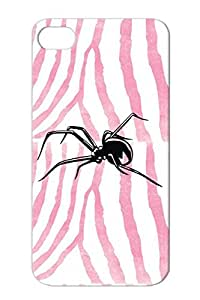 Nature Nature Animals Spider Black Shockproof For Iphone 4s Case Cover