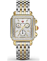 Deco 120 Diamonds Two-Tone Mother of Pearl Womens Watch MWW06P000108