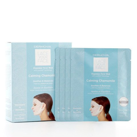 Chamomile Face (LACE YOUR FACE Compression Facial Mask - Calming Chamomile - 4 Pack Box)