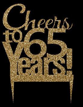 CakeSupplyShop Item#065CTA - 65th Birthday / Anniversary ...