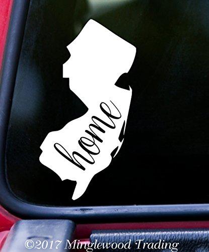 NEW JERSEY State WHITE Vinyl Decal Sticker 3.25