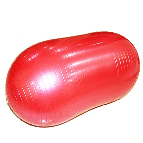 WJL Yoga Peanut Fitness Ball for Yoga, Pilates and Gymnastics Conference, Birth and Recovery Inflatable Assistant and Therapeutic use (Color : Red, Size : 35x18in)