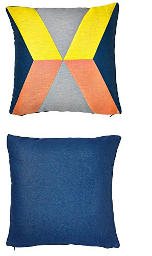 Ikea ps Yellow, gray, blue, pink  Cushion Cover 20 x 20 -- Sleeve Only