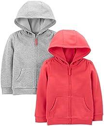 Toddler Girls 2-Pack Fleece Full Zip Hoodies