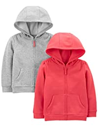 Simple Joys by Carter's Toddler Girls' 2-Pack Fleece Full Zip Hoodies
