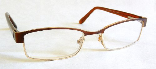 - Foster Grant +2.00 Bronze Brown and Gold Metal Frame Reading Glasses with Spring Hinges-H27-+ + FREE BONUS CLEANING CLOTH