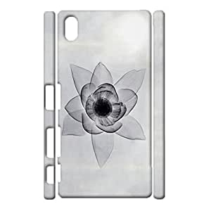 3D Protective Shell Delicate Graceful Flower Printed Phone Case for Sony Xperia Z3 Plus