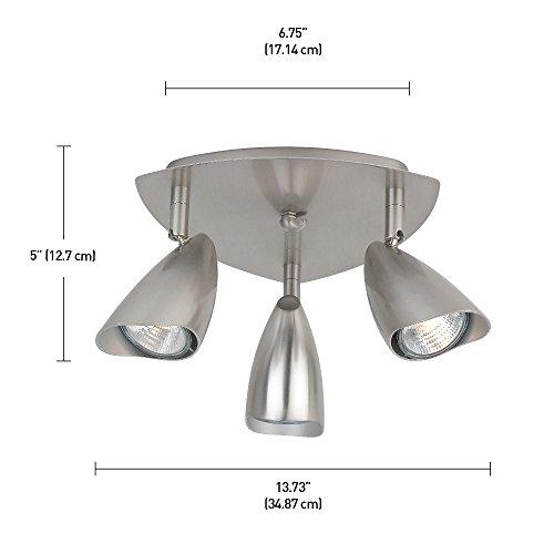 Globe Electric Grayson 3-Light Canopy Track Lighting Kit, Brushed Steel Finish, 58929 by Globe Electric (Image #1)