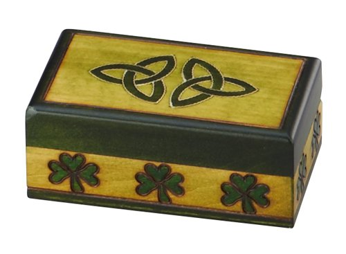 Celtic Triquetra Small Jewelry Box Hand Crafted Wood