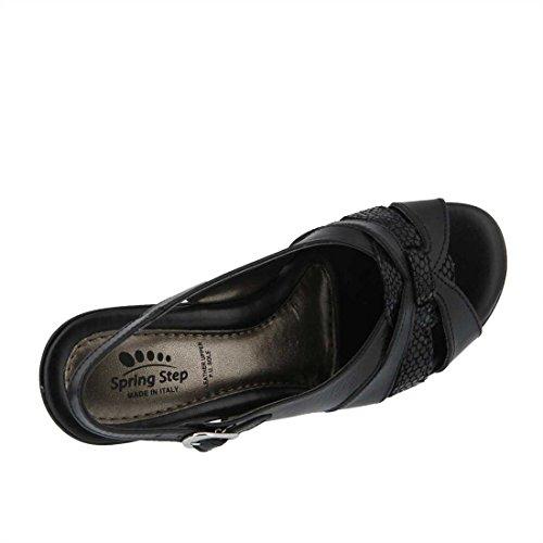 Donna Nera Ci Sandalo Primavera In Pelle Tacco Nera Europea Adorabile 36 Passo ZqawTn