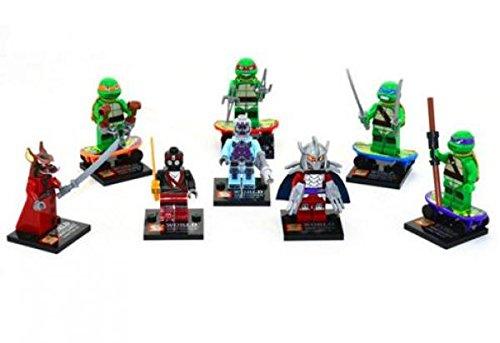 Generic Teenage Mutant Ninja Turtle Mini-Figure 8pc Set w/Leonardo, Donatello, Michelangelo and Raphael / Splinter Shredder & The Foot Clan mu?eca Figura de h?roes ni?os