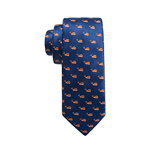 Dockers Neckwear Boys' Big Novelty Fun Print Tie, navy/orange, One -