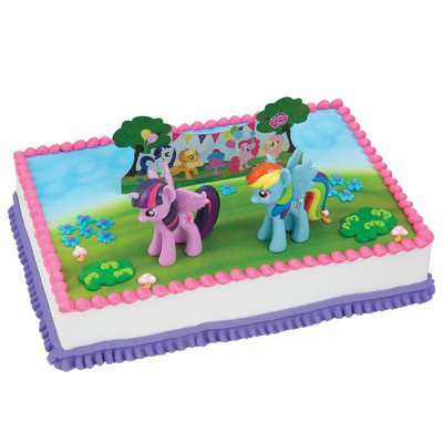 A1 Bakery Supplies My Little Pony It's a Pony Party Cake Decorating Set: Grocery & Gourmet Food