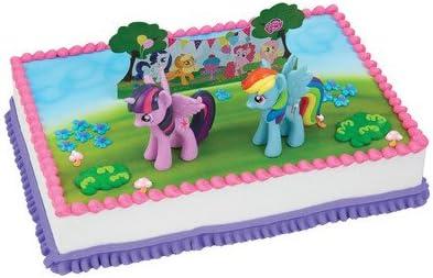 Enjoyable Amazon Com My Little Pony Birthday Cake Kit Kitchen Dining Funny Birthday Cards Online Fluifree Goldxyz