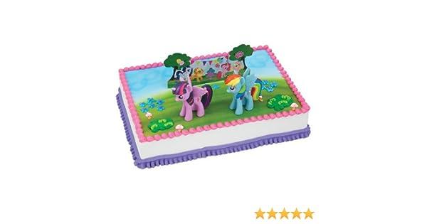 Amazing Amazon Com My Little Pony Birthday Cake Kit Kitchen Dining Funny Birthday Cards Online Sheoxdamsfinfo