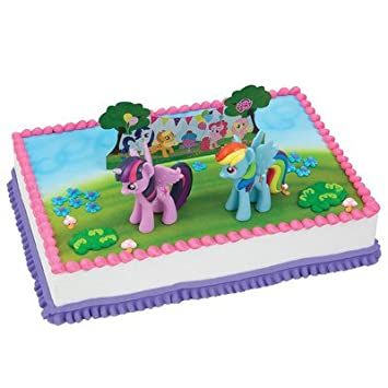 Amazoncom My Little Pony Birthday Cake Kit Kitchen Dining