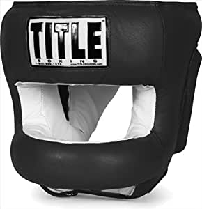 TITLE Boxing Face Protector Training Headgear, Black