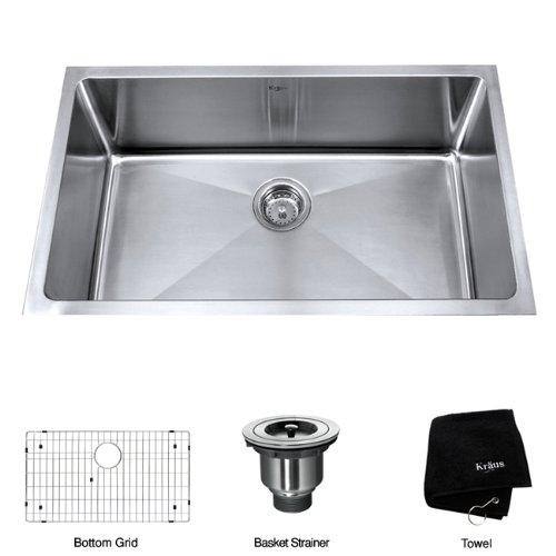 30 in. Undermount Single Bowl Sink