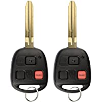 KeylessOption Keyless Entry Remote Control Car Key Fob Replacement for HYQ1512V 4C (Pack of 2)