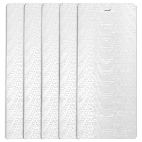 DALIX Sheer White Vertical Blind Texture Slats Sliding Door 94.5 Qty 5 Pack