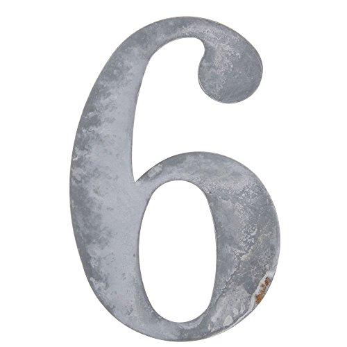 Weathered Grey Tin Number
