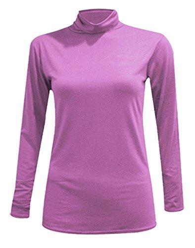 Polo Talla Camiseta 8 Para Cuello Jersey Uk Tortuga Tops De nbsp; Mujer Larga Manga New wf0qPOnxO
